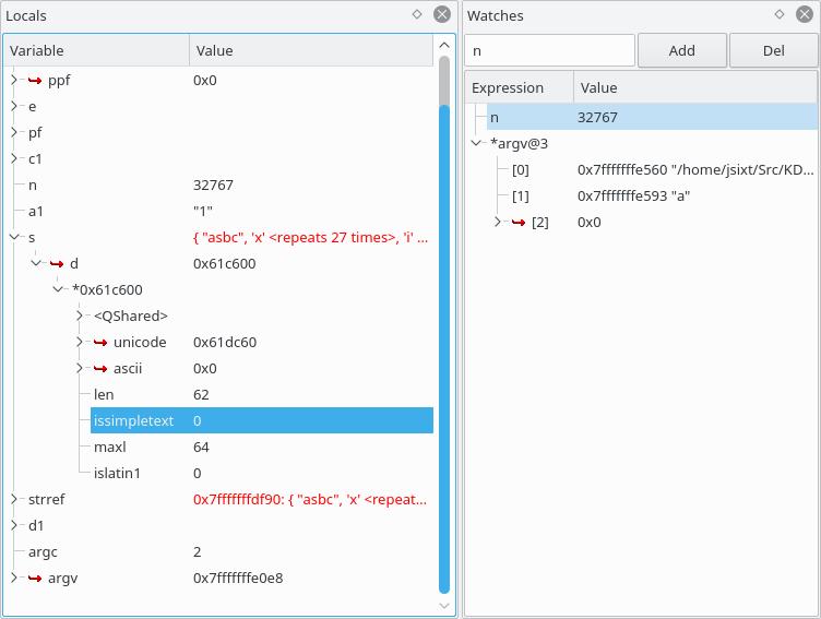 KDbg - A Graphical Debugger Interface